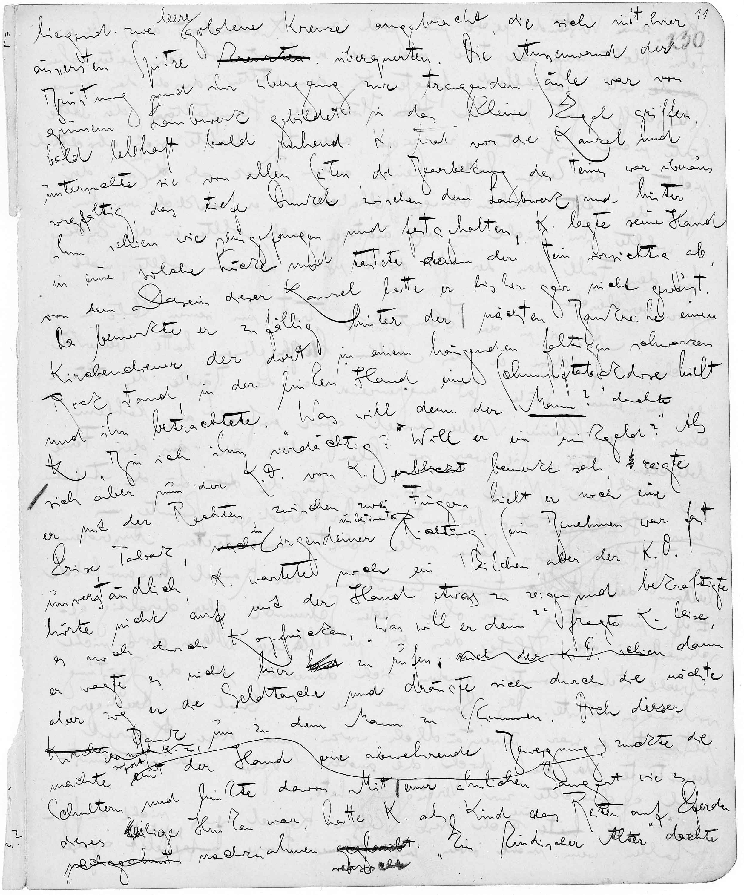 The Kafka Project   Manuscripts   An example from The Trial's MS